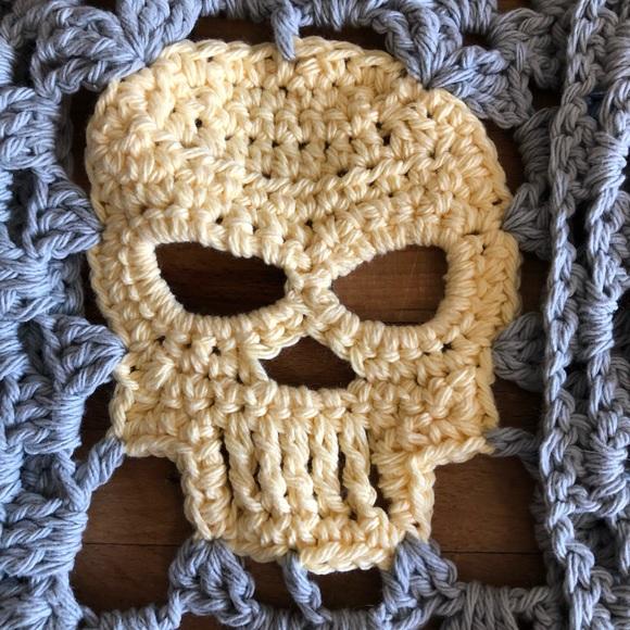 Dishcloths large skull